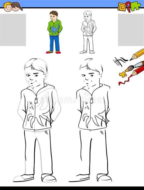 drawing  coloring worksheet  goose stock vector