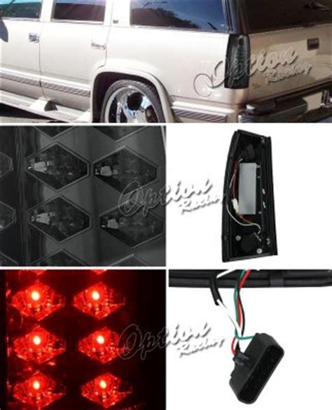 1996 chevy silverado tail lights chevy silverado 1988 1998 smoked led tail lights