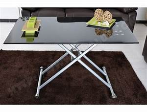 Table Basse Relevable Pas Cher : table basse ub design basto relevable noire 120 x 70 cm pas cher ~ Teatrodelosmanantiales.com Idées de Décoration