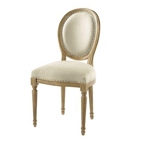 chaise médaillon maison du monde chaise médaillon en et chêne massif louis maisons du monde