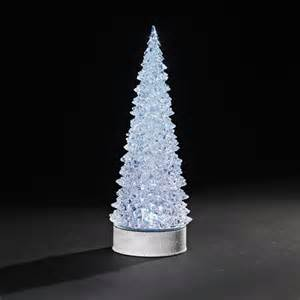 lighted christmas decorations 12 5 quot battery operated led lighted rotating christmas tree