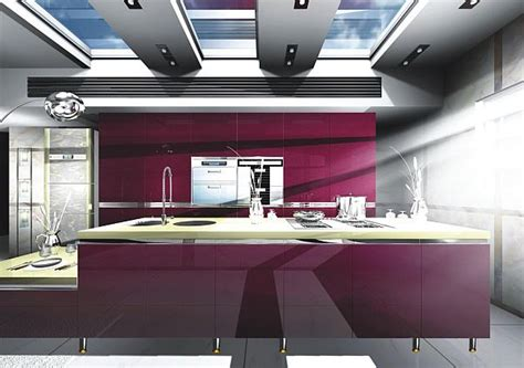 ultra modern kitchens black gloss purple kitchen designs pictures and inspiration Ultra Modern Kitchens Black Gloss