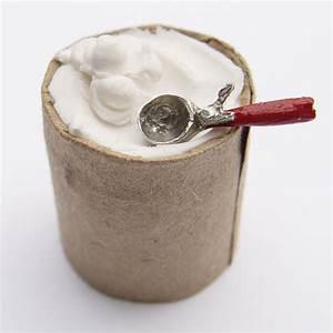 Minature Bucket of Vanilla Ice Cream Stewart Dollhouse