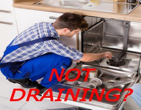 dishwasher  draining appliance helpers