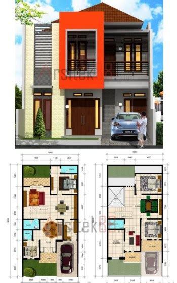 koleksi denah rumah  lantai minimalis terbaru