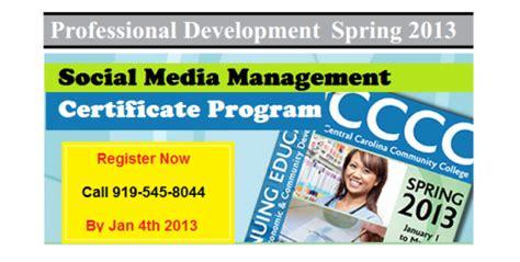 social media certificate programs four month social media management certificate program