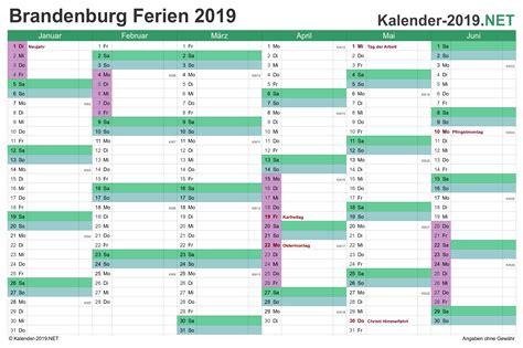 ferien brandenburg ferienkalender uebersicht