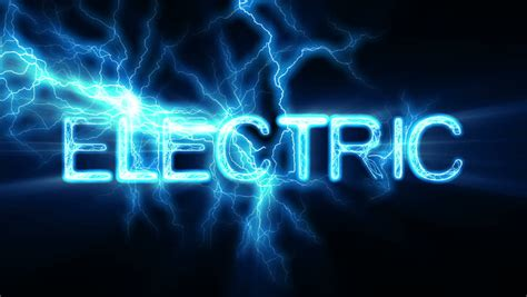 Gesits Electric Hd Photo by Electric Word Text Animation With Electrical Lightning