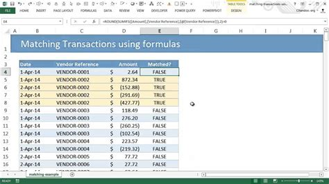 matching transactions reconciling  excel pivot