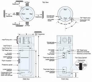 Hybrid Heat Pump Electric Water Heater Model Pbx