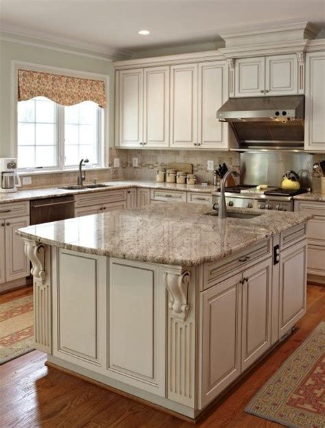 antique beige kitchen cabinets antique white kitchen cabinets in snow theme hupehome 4074