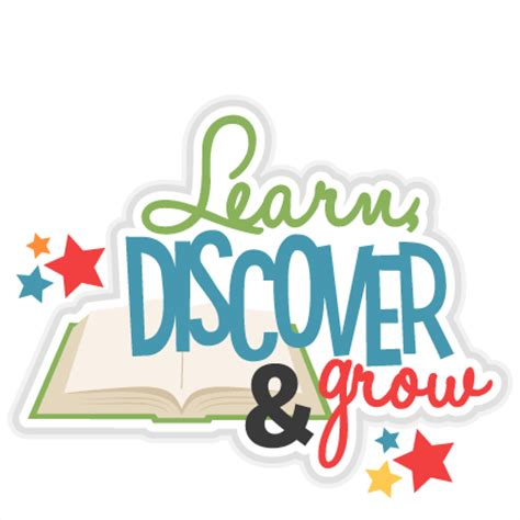 learn discover grow title svg scrapbook cut file 664 | large learndiscovergrom title