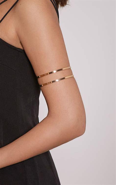 danah gold cut  upper arm cuff   jewlery