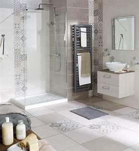 salle de bain carreaux ciment suite parentale With carreaux de ciment sdb
