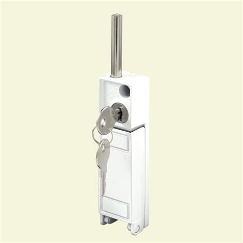 Backyard Door Lock by Prime Line White Patio Door Keyed Bolt Lock U 9919 The
