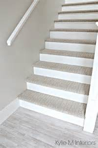 Bathroom Update Ideas Stairs With Carpet Herringbone Treads And Painted White Risers Looks Like A Runner Benjamin