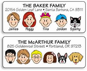 Best return address labels many unique options to for Caricature address labels