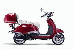 Motorroller Vespa 50ccm : motorroller techno classic retro roller rot mit weisser ~ Jslefanu.com Haus und Dekorationen