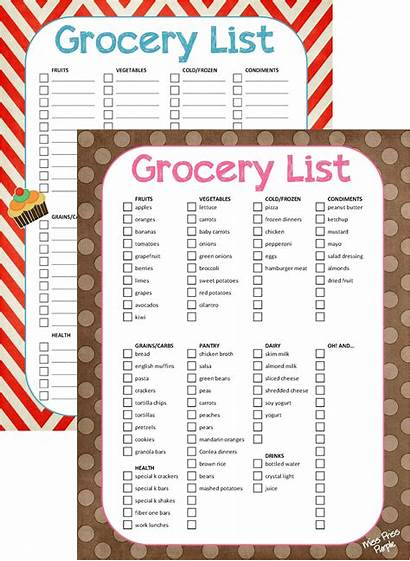 Grocery Printable Lists Purple Priss Miss