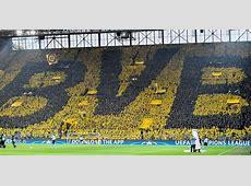 Borussia Dortmund Emotionale Choreo der Südtribüne vor AS