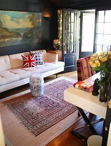 le tapis jonc de mer pour le salon classique en 60 belles With tapis design avec canapé lit style anglais
