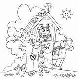 Coloring Tree Pages Printable Getcolorings sketch template
