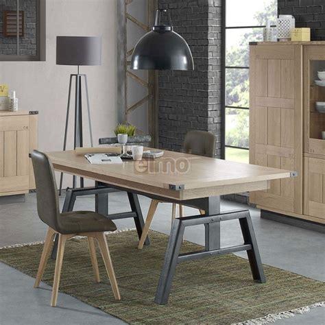 ensemble table chaises cuisine table rectangulaire de salle à manger plateau chêne massif