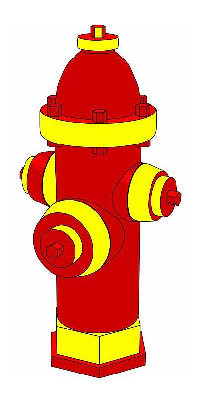 Hydrant Fire Emergency Yellow Vector Water Clear