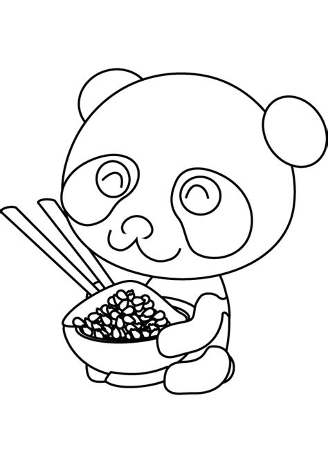 panda coloring pages baby panda printable coloring pages