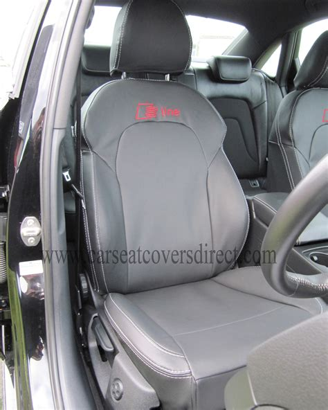 siege audi a4 audi a4 seat covers black with s line logo car seat