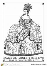 Antoinette Marie Coloriage Paper Coloring Dolls France Pages Adult Reine Sheets Google History Hugolescargot Coloriages Rococo Costumes French Printable Queen sketch template