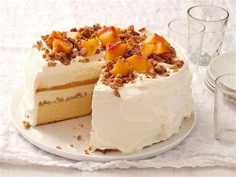 peach cobbler ice cream cake recipe food network kitchen