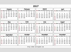 Calendar 2017 From Sunday Calendar Template 2018
