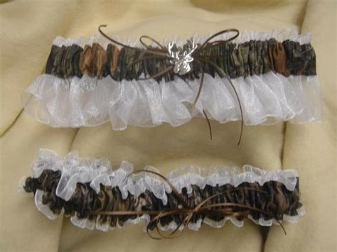 Bridal Garter Set Camouflage Camo Ivory Deer Mossy Oak Ebay