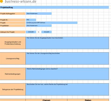 projektauftrag fixieren und informationen zum projekt im