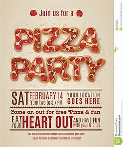 9 best images of free printable pizza party flyers free for Pizza party flyer template free