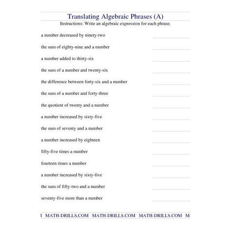 math worksheets  students entering  grade