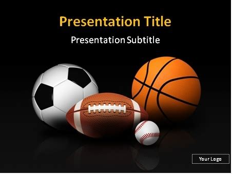 Free Themed Powerpoint Templates by Sports Theme Powerpoint Template