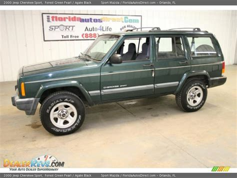 jeep cherokee green 2000 2000 jeep cherokee sport forest green pearl agate black