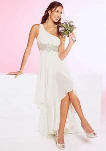 Robe Mi Longue Mariage : robe blanche mi longue ~ Melissatoandfro.com Idées de Décoration