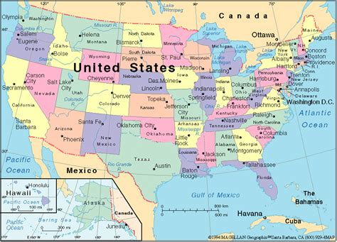 united states map state map