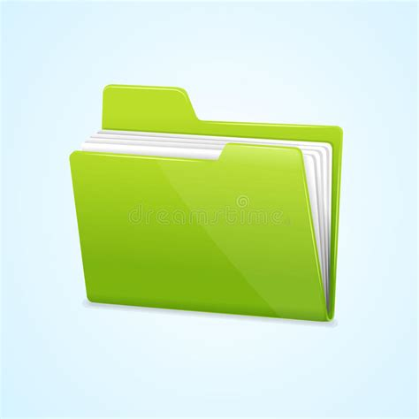 vector green file folder icon isolated  blue stock