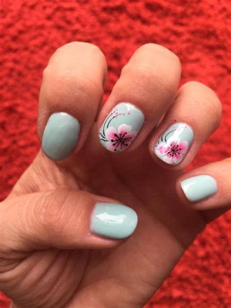 fun spring manicure  gel nail art designs