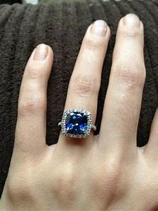 sapphire engagement ring i love the idea of a stone with With instead of wedding rings