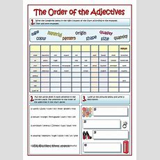 The Order Of Adjectives  Writing  Pinterest  Worksheets, Kids Education And Printable Worksheets