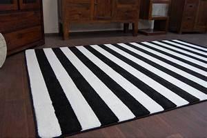 Teppich Schwarz Weiß Gestreift : 6 gr en modern weich teppich sketch f758 wei schwarz breit gestreift streifen ~ Indierocktalk.com Haus und Dekorationen