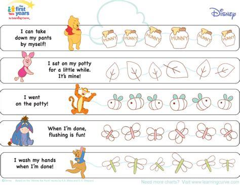 winnie  pooh potty training chart potty training concepts