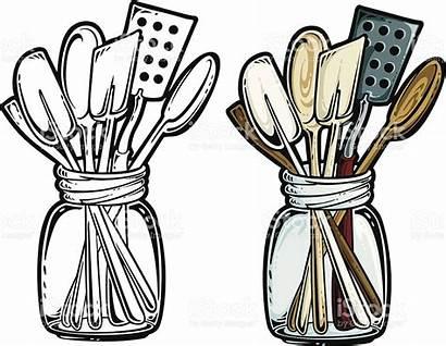 Kitchen Utensils Clipart Cooking Spoon Antique Clip