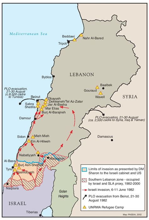 passia maps special themes lebanon