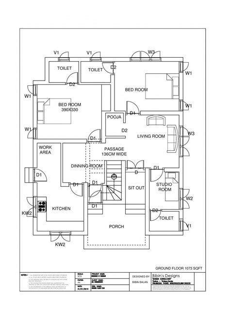 Design House Plans Free by Free Kerala House Plan 1174 Sq Ft 3 Bedroom Modern Home